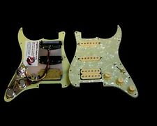 Dragonfire Prewired-Loaded  Strat Pickguard HSS, Mint Green Pearl with Cream