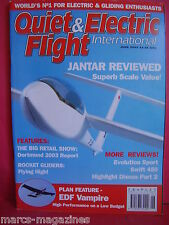 QUIET & ELECTRIC FLIGHT JUNE 2003 ROCKET GLIDERS EDF VAMPIRE SWIFT 450