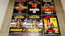 stallone RAMBO 1.2.3.  ! 6 affiches cinema