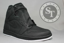 NIKE AIR JORDAN 1 ONE RETRO HIGH OG 555088-002 PERFORATED BLACK DS SIZE: 14