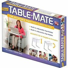 Tables White Dinner Tray Adjustable Folding Table Mate