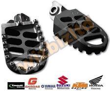 MX Off Road Wide Footpegs Gun Metal Motocross Kawasaki KX125 03-08 FOX99GM