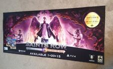 Saints Row - Gat Out Of Hell Promo Store Display Banner 53X21
