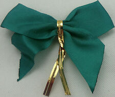GREEN READYMADE BOW>6.5cm 50 PCS>WOW<CRAFT/FLORIST>FREEpp>BRILLIANT VALUE4MONEY