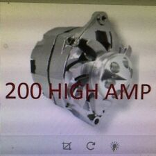 NEW CHROME Fits CHEVY GM GM SBC BBC CHEVY 1 WIRE ALTERNATOR HIGH OUTPUT 200AMP