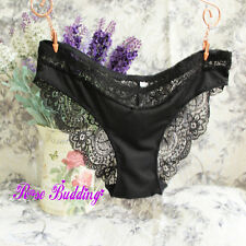 Sexy satin & lace Brazilian knickers briefs panties lingerie full back new KN6