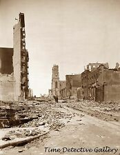 1906 San Francisco, CA Earthquake Aftermath, Sutter Street- Historic Photo Print