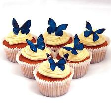 Cakeshop PRECUT 12 Blue Edible Butterfly Cake Cupcake Toppers Decorations