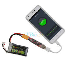 2S-6S Lipo Battery to Mobile Phone XT60 Plug USB Portable Lamp Charger Adapter