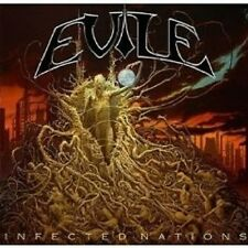 """EVILE """"INFECTED NATIONS"""" CD+DVD LIMITED EDITION NEU"""