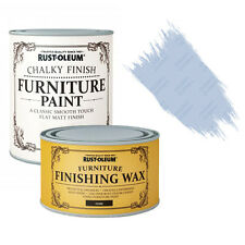Rust-Oleum Chalky Furniture Paint Chic Shabby 125ml  Powder Blue 400ml Dark Wax