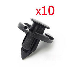 10pcs Car Bumper Fender Plastic Rivet Weatherstrip Fastener Mud Flaps Push Clips