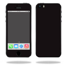 Skin Decal Wrap for Apple iPhone 5/5s/SE sticker Solid Black