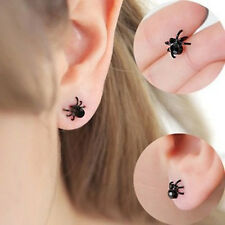 New Earring Black Tiny Stud Spider Lovely Cuff Earrings For Lady Women And Men