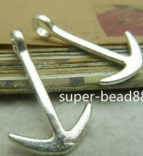 Free Ship 10Pcs Antique Silver Vintage Anchor Charm Pendant Jewelry Findings