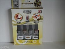METALLIC MAGNA NAILS MAGNETIC NAIL POLISH 4 BOTTLES & 4 3D MAGNETS IN A SET