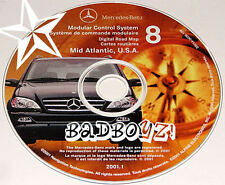 2000 01 02 MERCEDES ML320 ML430 ML55 AMG NAVIGATION MAP DISC CD 8 MID ATLANTIC