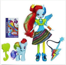 My Little Pony Equestria Girls Rainbow Rocks Rainbow Dash Doll And Pony Set