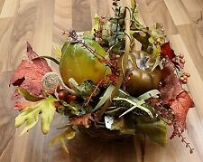 Fall Autumn Thanksgiving Decorative Centerpiece Basket Arrangement Pumpkin Gourd