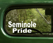 Seminole Pride Decal Sticker (2) Native American for Car, Laptop, Truck
