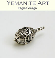 925 Sterling Silver Small Hanukkah Dreidel Filigree Artisan, Yemenite Art