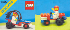 LEGO SET 6502 - TURBO RACER (CLASSIC - TOWN SERIES), COMPLETE, WITH INSTRUCTIONS