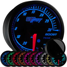 52mm GlowShift Elite 10 Color 30 PSI Boost / Vacuum Gauge - GS-ET01