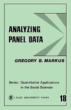 Analyzing Panel Data (Quantitative Applications in the Social Sciences-ExLibrary