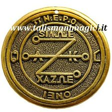 "AMULET PENTACLE OF KING SOLOMON SHAPED ""Z"" EVIL EYE PROTECTIVE SHIELD"
