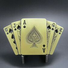 "Buckle ""Royal Flush"" in Pik, with Lighter, Poker, Belt Buckle"