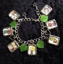 Silver Plated Charm Bracelet With Charms Animal Crossing New Leaf Acnl 3ds