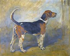"John Emms, Hunting Dog, Hound, Redrose, antique home decor, 14""x11"" Art Print"