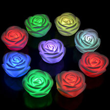 Color Changing Rose Flower Night Light LED Lamp Christmas Gift Valentine Decor