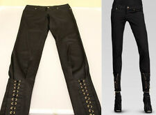 $795 NEW Authentic Gucci Womens Lace Up Skinny Pants Legging Jeans 44, 264465