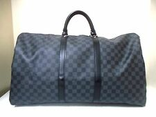Authentic LOUIS VUITTON Damier Graphite Speedy Bandouliere 55 N41413 Boston Bag