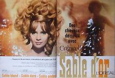 PUBLICITÉ 1967 L'ORÉAL SABLE D'OR SABLE BLOND DORÉ OMBRÉ - ADVERTISING
