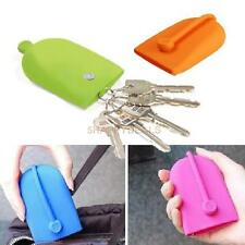 Keychain Hasp Style Silicone Pouch Card Bag Case Gift Key Holder Magnet Snap #5