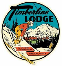 Timberline Lodge  Mt. Hood Oregon Natl. Park  Vintage-Style Travel Decal/Sticker