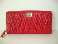 Coach Madison Twist Leather Accordion Zip Around Wallet F49609 IM Classic Red