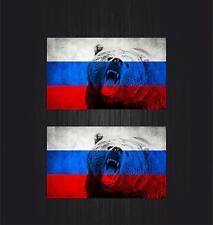 2x Aufkleber sticker russia sowjetunion flagge fahne udssr russland cccp bär r22
