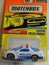 Matchbox #59 Super Fast White Camaro Police Pursuit