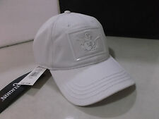 AUTHENTIC TRUE RELIGION TR2064  BASEBALL HAT CAP LEATHER BACK STRAP   WHITE