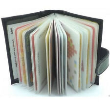 PU Leather Card Business Name ID Credit Card Holder Book Case Keeper Organizer M