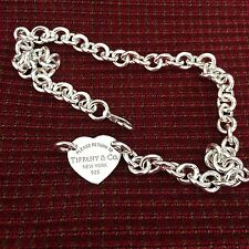 Return To Tiffany & Co Center Heart Tag Silver Necklace