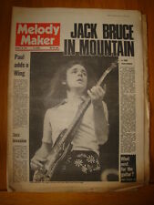 MELODY MAKER 1972 JAN 29 JACK BRUCE MOUNTAIN WINGS TREX