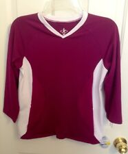 New With Tags~Tennis Top~Medium~Balle De Match~Purple & White~Long Sleeve~Pocket