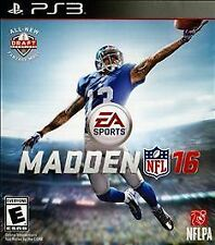 Madden NFL 16  --  Sony PlayStation 3 PS3 Game w/ Case  ***Guaranteed*** 2016