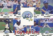 MLB Toronto Blue Jays 1991 THE ALL STAR SEASON Fire Safety CARD SET