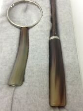 New Brunello Cucinelli Buffalo Horn Magnifying Glass & Letter Opener Desk Set