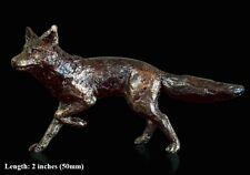 Fox solide fonte fonderie bronze sculpture détaillée Butler et peach (2015)